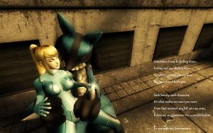 Lucario and Samus: Poetry by Barto22