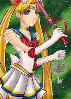 Super Sailor Moon - Carrying Time by miserable-dreamer
