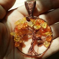 Citrus Copper Tree of Life w/birds' nest by TheWingedBoggart