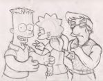 Bart, Lisa, and Milhouse Older by simpspin