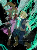 Cloud and Aerith by TastyTOAST