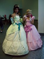 Tiana and Charlotte by Pontouf