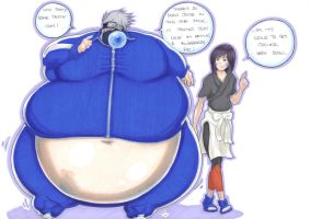 kakashi sumo-nin fruitsuit part 1 by prisonsuit-rabbitman