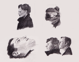 Sherlock Sketches by LadyRoxanne7