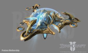 Starcraft 2: Protoss Mothershi by PhillGonzo