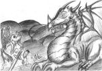 Commission - Smaug and Belle by UltimateGalaxia