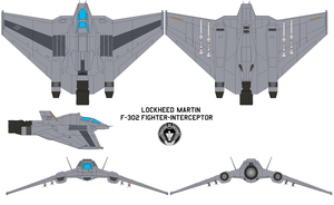 F-302 fighter-interceptor by bagera3005