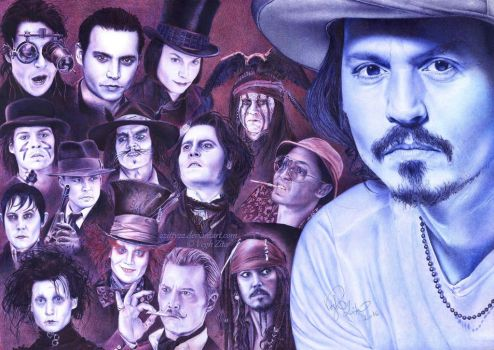 Johnny Depp ballpointpen drawing by 22Zitty22