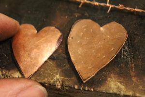 WIP - Copper pieces for heart pendant by connerchristopher