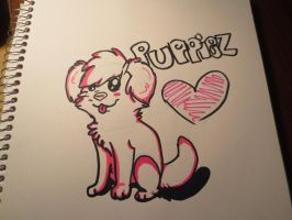 Pink Puppy~! by Tanahachi