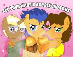 MLP - Wafflin' Your Waifus' by AniRichie-Art
