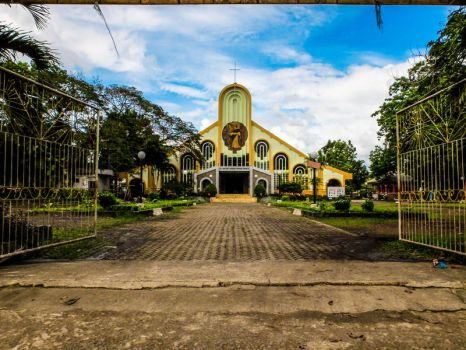 Facade of St. Vincent Ferrer Church, Molave ZDS by PhilipEsarza