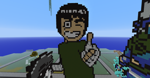 Rock Lee Pixel Art by BannerWolf