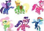 Mane 6 Supers by masemj