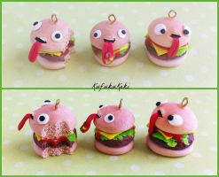 Hungry Hamburger Charms by Rhiannon-San