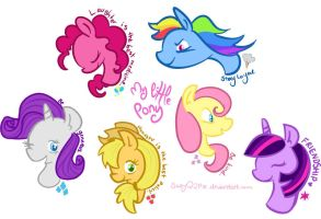 My Little Ponies by SuzyQ2pie