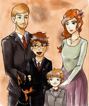 The Smith Family by YaminaYugineAtema