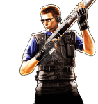 Albert Wesker S.T.A.R.S. Version #2 RE-UC  [PNG] by AlbertWeskerG