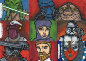Star Wars Galactic Files Sketchcards Part 2 by bdeguire