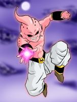 Coloured Kid Buu. by kingvegito
