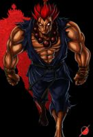 Akuma Dark Hadou by Osmar-Shotgun