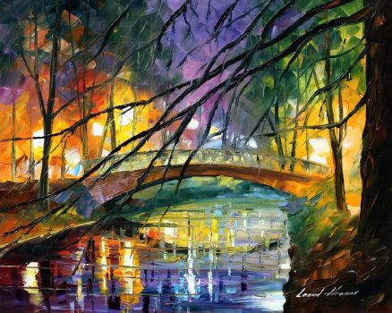 ENIGMATIC BRIDGE by Leonid Afremov by Leonidafremov