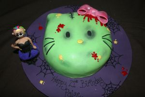 Frankenstein Hello Kitty by mudpiecakes