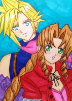 Cloud x Aerith: Mysterious eyes by dagga19 by dagga19
