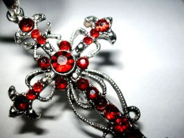 red jewel cross by saturnstock