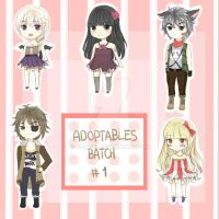 Chibi Adoptables Batch [OPEN] by jiangel
