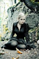 Corsetted in the woods by DivaGrotesque