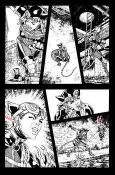HiRes Catwoman Injustice: Gods Among Us 17 p 6 ink by davidyardin
