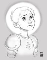 Sketch Dailies #4: Joan of Arc by EadgeArt
