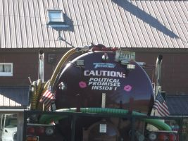 Funny Quote on Septic Truck by TheGreatWiseAss