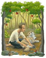 Jonny Appleseed Helps the Wolf by Shadow-Wolf