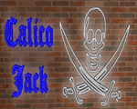3D Mesh Calico Jack Neon Sign by 1389AD