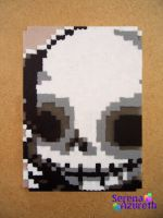 Skeleton Skull ATC by SerenaAzureth