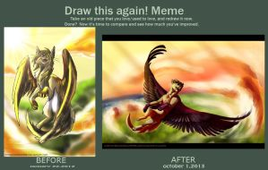draw this again meme by Silverbloodwolf98