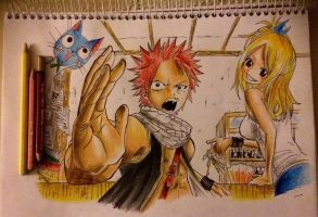 Natsu and Lucy by BrownBeard