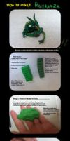 How to make the legendary Rayquaza! (FIMO) by Fan-Gogh