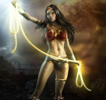 Wonder Woman Character ART By Kleber by DEVIL-TH