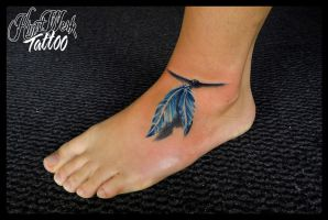 Feather by CAMOSartTATTOO