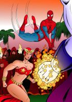 Spidey and Darna by MikeMcelwee