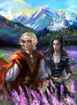 King Arthur and Merlin by Venlian