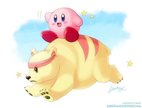 Kirby and Grizzo by LCibos