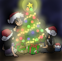 Lighting up the Christmas Tree by Ace-Hyperhandshockz