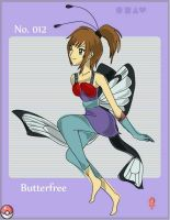 Gijinka - Butterfree by redEmily00
