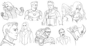 Civil War Sketches by pencilHead7