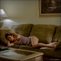 Elan napping on the couch again by Gary-Melton