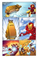 Iron Man and MODOK 5 by chadf